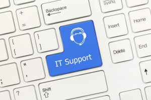 IT Support Keyboard Button